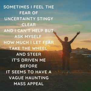 Fear of uncertainty